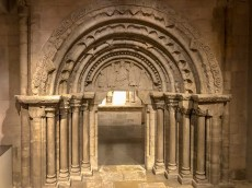 An intact Romanesque door, dating to the second half of the 13th century.