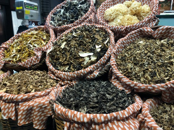 Dried mushrooms of all kinds