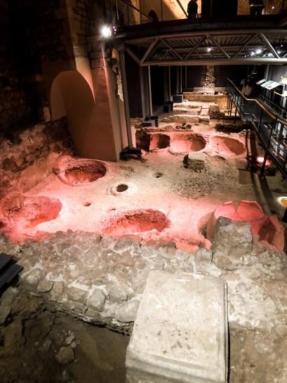 Barcelona History Museum - Roman wine making facility 3rd centur