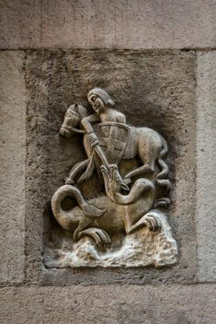 Sant Jordi (Saint George) is one of the patron saints of Catalonia