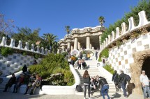 Park Güell - view from the main entrance
