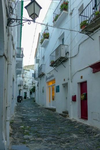 Cadaquès cobbled street