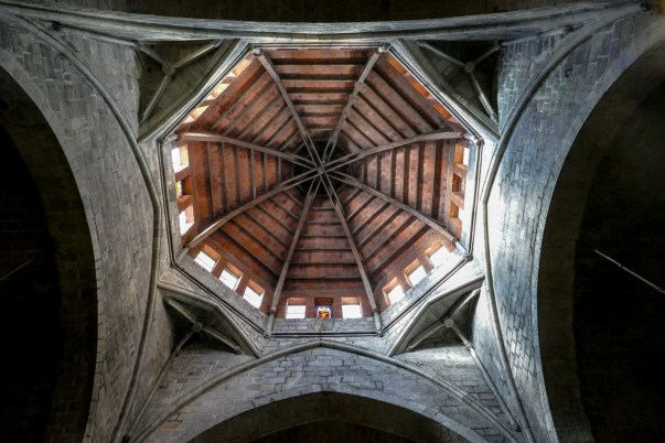 The timber octagonal roof