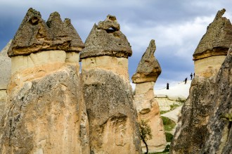 Closeup of some fairy chimneys