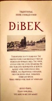 Dinner at DiBEK