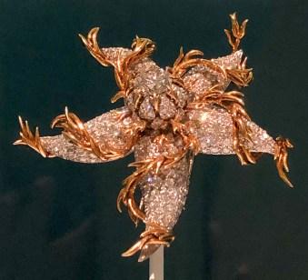 Sea Star Brooch, 1956, Platinum, 18 karat gold, platinum and diamonds