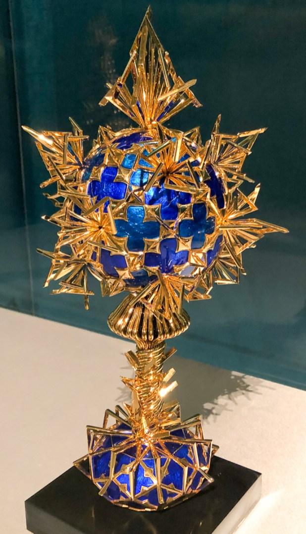 Sphere, 1966, enamel, black lacquer, 18 carat gold
