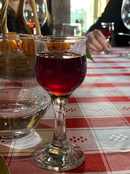 And a glass of after lunch port. I could get used to this.