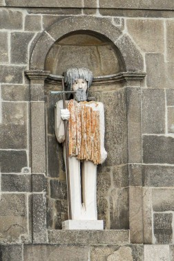 Unusual modern statue of John the Baptist
