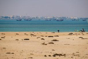 The city of Al Khor across the bay