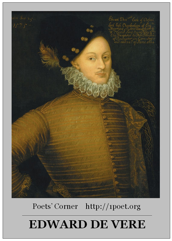 Edward de Vere (1550-1604) tratta da: http://theotherpages.org