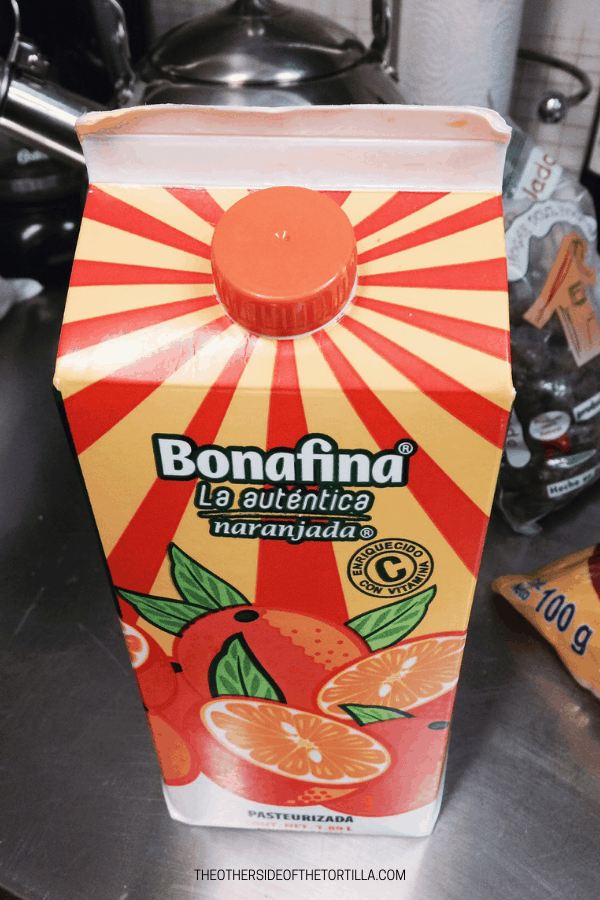 Bonafina is an orange-flavored drink in Mexico. Via theothersideofthetortilla.com