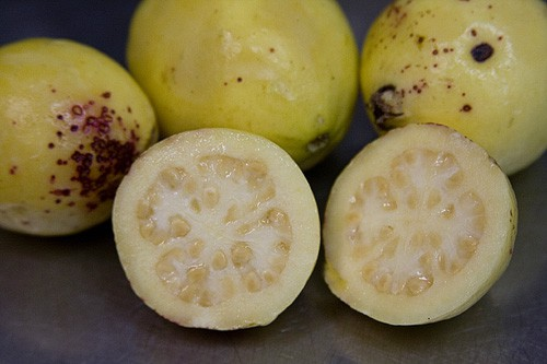 Mexican guavas are an important ingredient in ponche navideño. Get the recipe at theothersideofthetortilla.com.