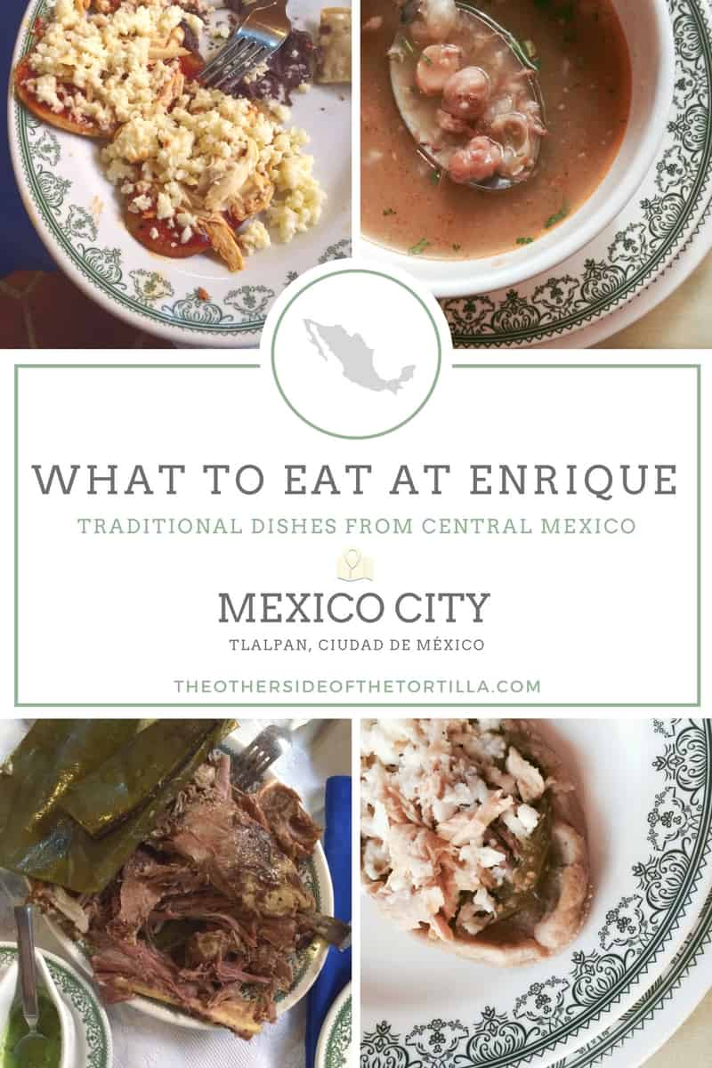 What to eat at Enrique Restaurant in Mexico City, via theothersideofthetortilla.com
