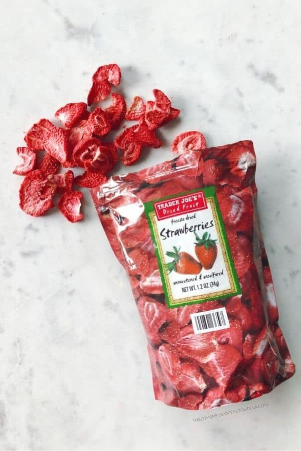 Freeze-dried strawberries from Trader Joe's
