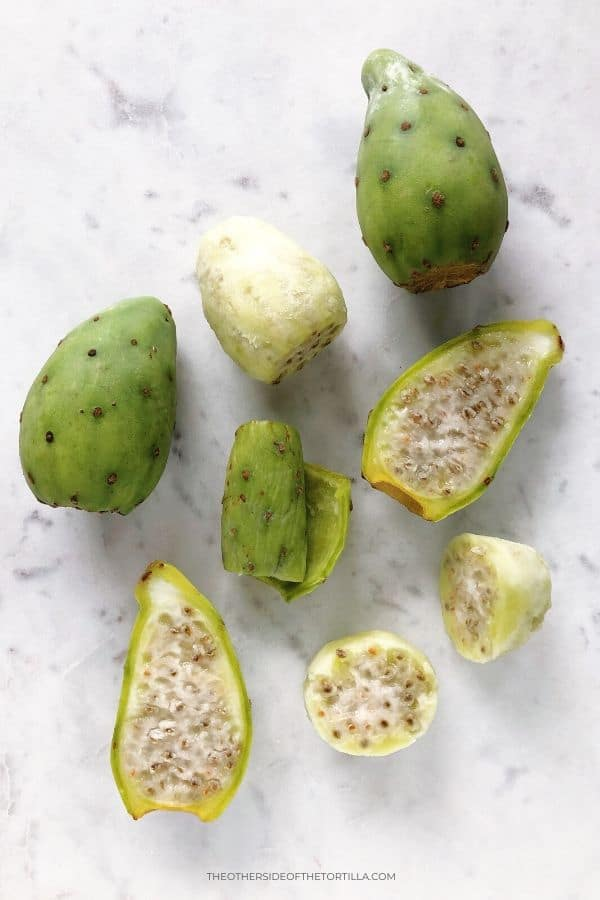 Green cactus pears