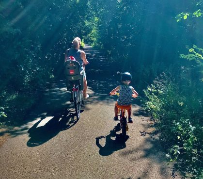 teach your kid to ride a bike