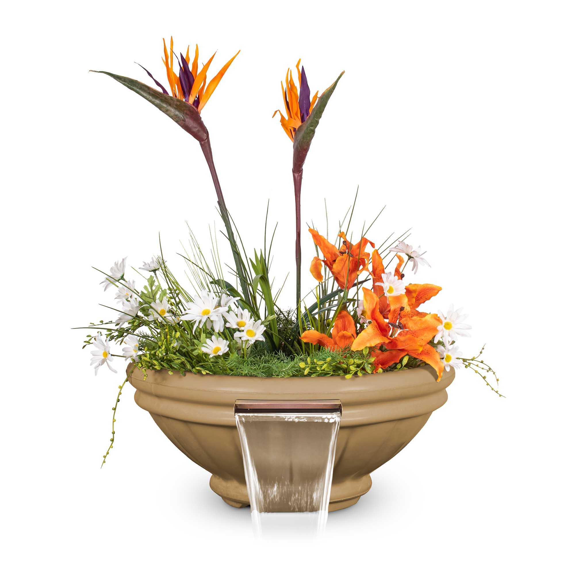 Roma GFRC Planter Water Bowl - Brown