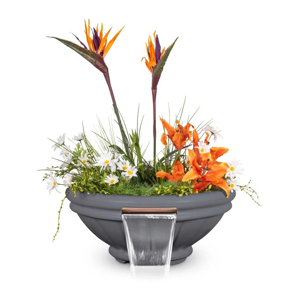 Roma GFRC Planter Water Bowl - Gray
