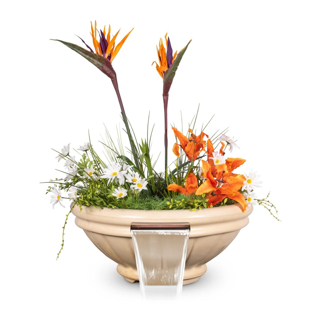 Roma GFRC Planter Water Bowl - Vanilla