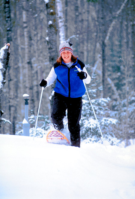 Snowshoeing, a great Winter workout!