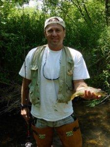 Noah van Hochman with a Wisconsin Summer Trout