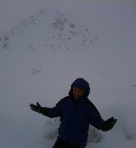 Noah Hochman at Hatcher Pass Alaska for a Winter Hike