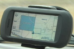 HuntingGPSMap in Car Mount