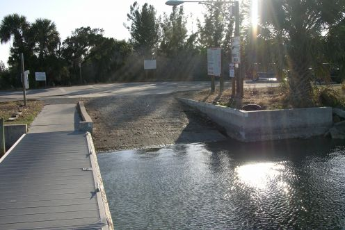 Boat ramp lining up