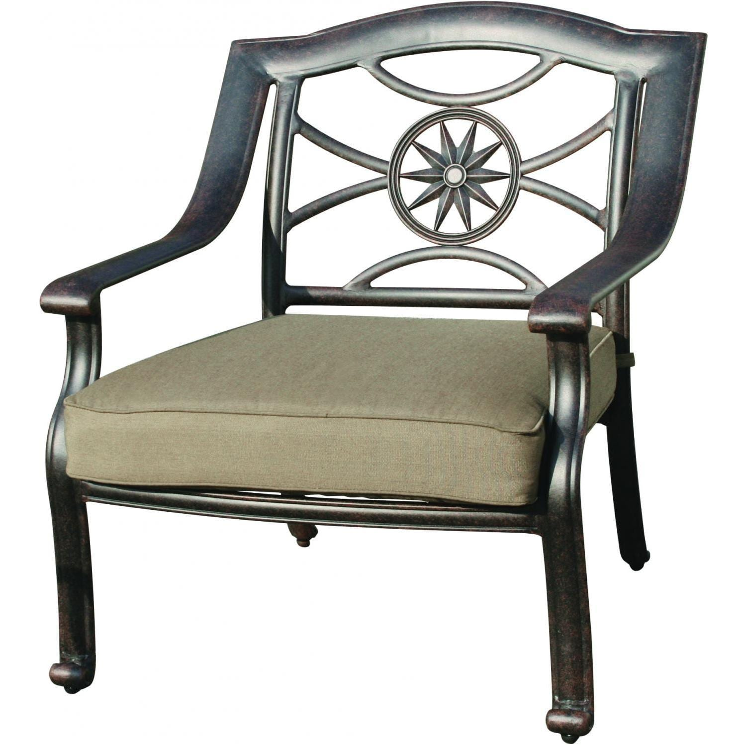 Deep Seating Patio Chairs Darlee Ten Star Deep Seating Patio Club Chair Cast Aluminum