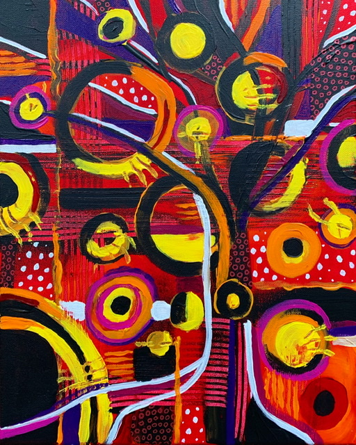 """""""Noise"""" abstract acrylic painting"""
