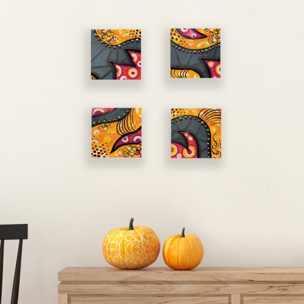 wood block wall art for fall decor