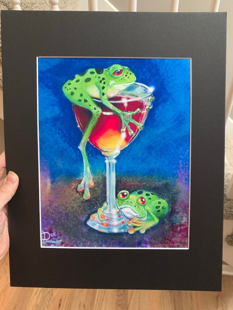 """Hoppy Hour"" art print by artist Dee Landerman"