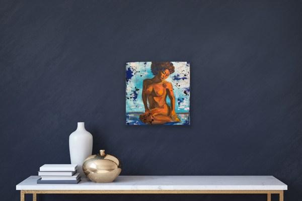 figure painting on canvas