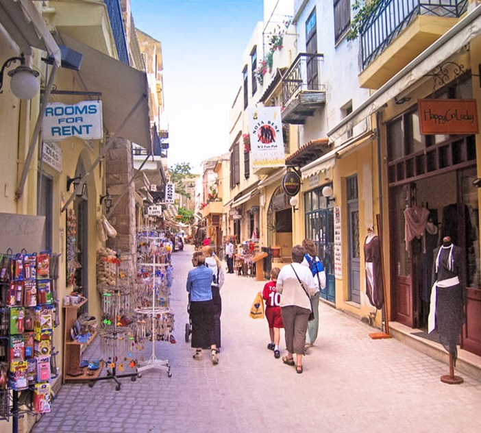 A Pedestrian only street in Old Town Chania