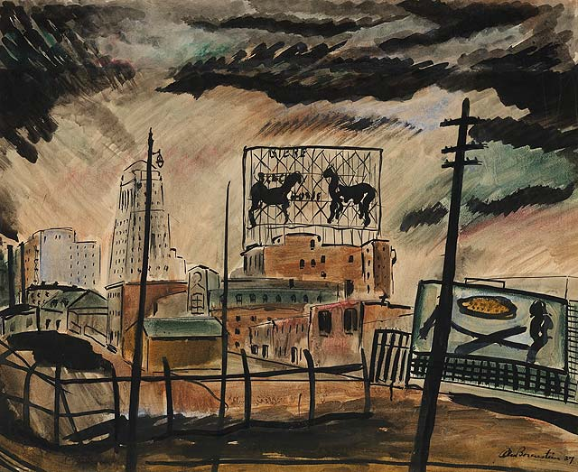 Black Horse Ale, Notre Dame Street, 1937 hangs in the National gallery of canada