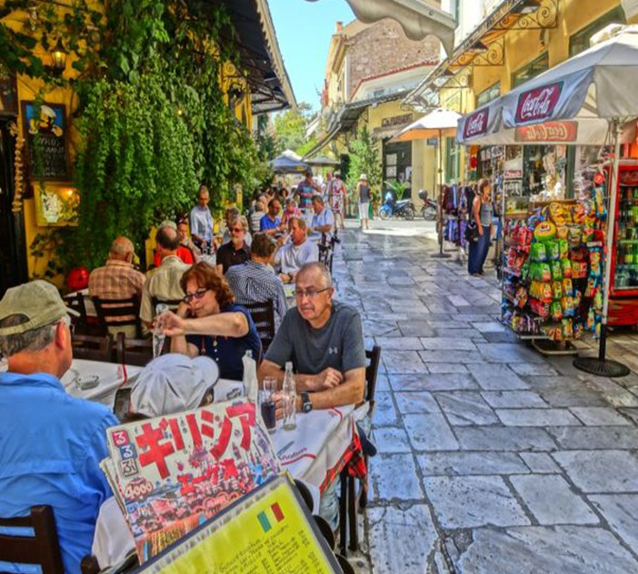 A pedestrian Street in Athens (La Plaka neighbourhood)