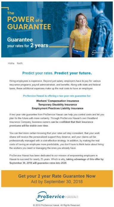 Guarantee email 2