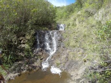 Kaau crater waterfall