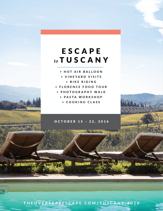 Escape to Tuscany with The Overseas Escape