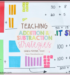 Teaching Addition and Subtraction Strategies - The Owl Teacher [ 1080 x 1080 Pixel ]