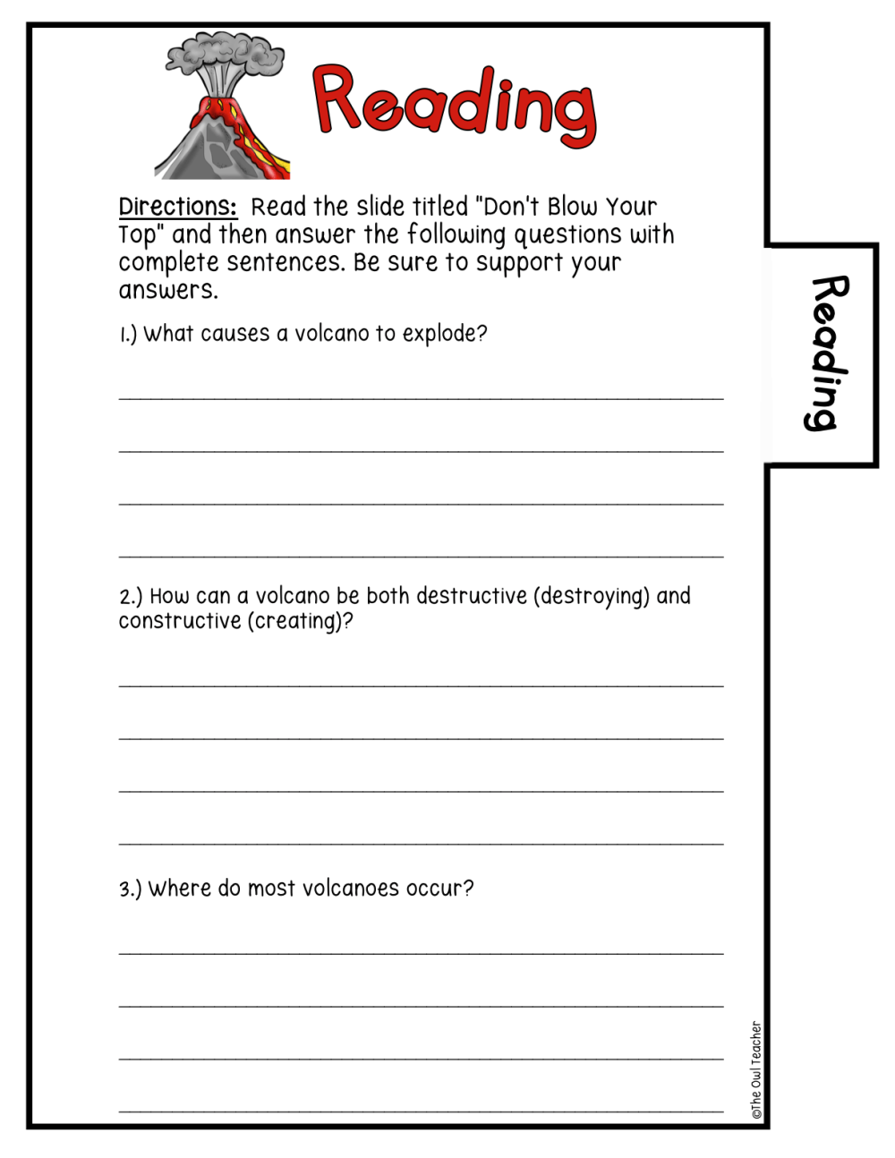 medium resolution of Volcanoes Science Investigation Booklet Printable \u0026 Digital - The Owl  Teacher