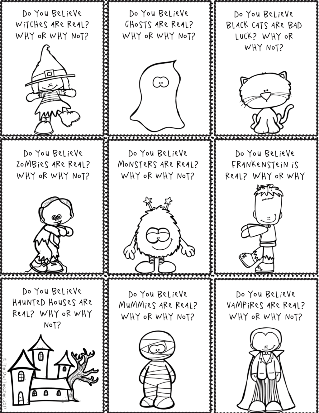 Halloween Writing Prompts Amp Story Starters Printable