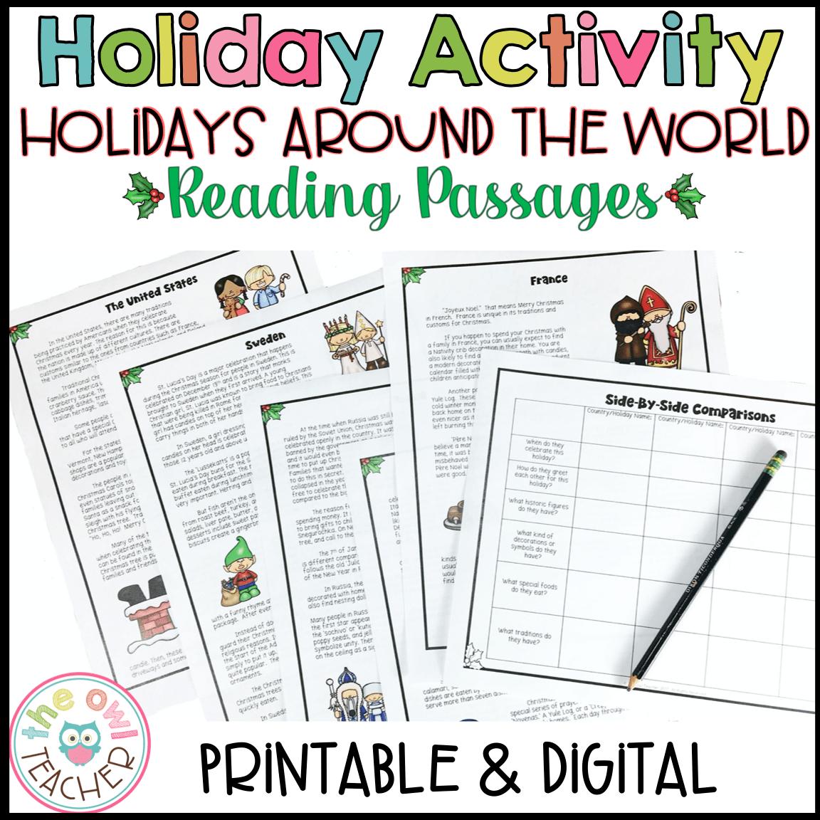 hight resolution of Holidays Around the World   Christmas Around the World   Reading Passages -  The Owl Teacher