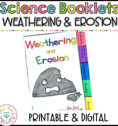 Weathering \u0026 Erosion Science Investigation Booklet Printable \u0026 Digital  (Google) - The Owl Teacher [ 1152 x 1152 Pixel ]