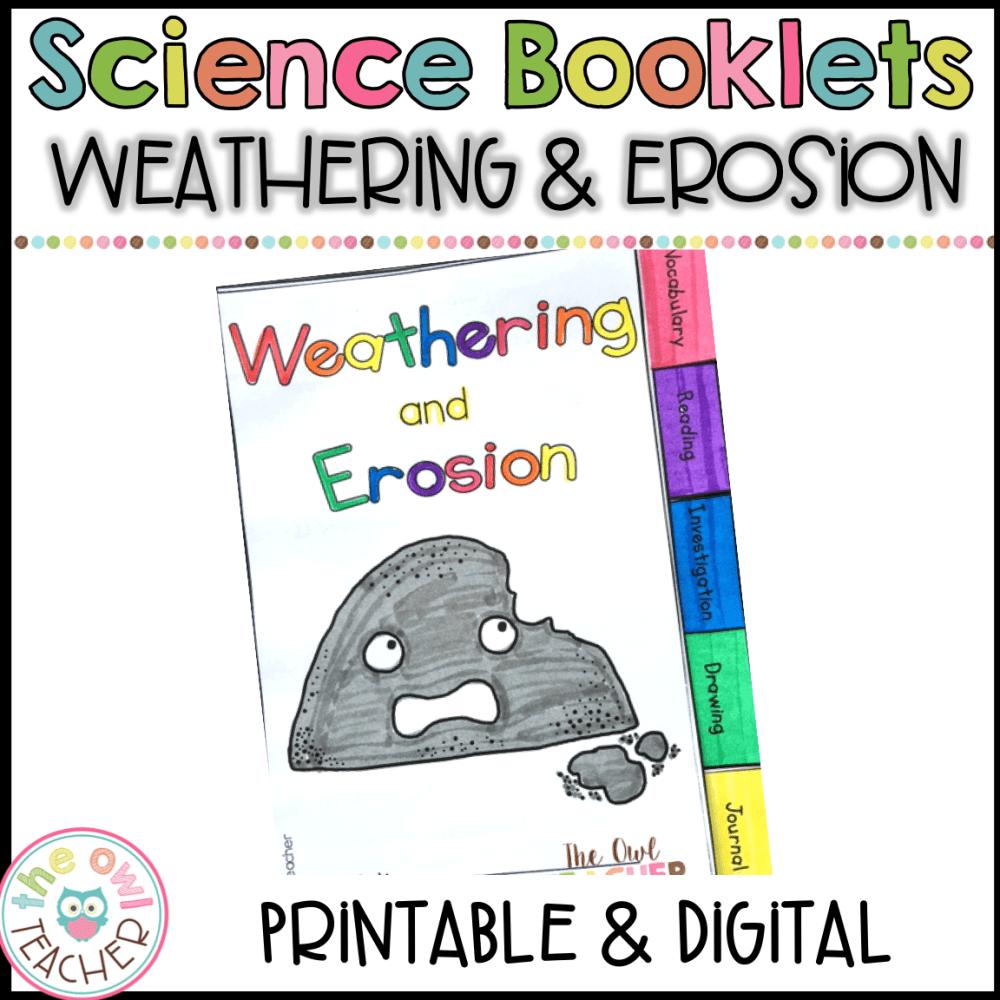 medium resolution of Weathering \u0026 Erosion Science Investigation Booklet Printable \u0026 Digital  (Google) - The Owl Teacher