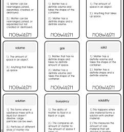 Matter Vocabulary Games and Worksheets Practice - The Owl Teacher [ 1649 x 1275 Pixel ]