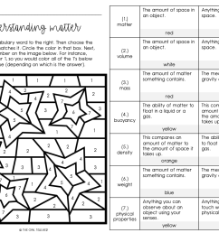 Matter Vocabulary Games and Worksheets Practice - The Owl Teacher [ 1275 x 1647 Pixel ]
