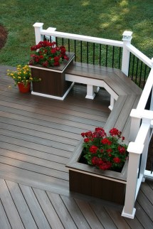 Deck Decks Built In Bench And Planter Boxes
