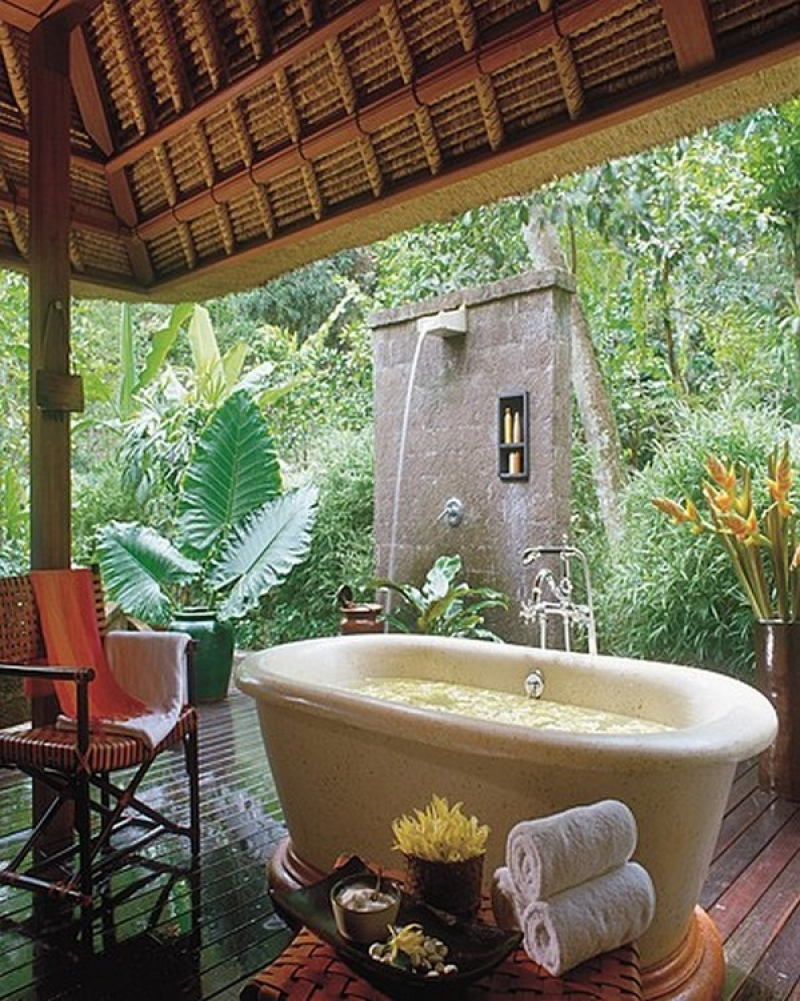 Cleansing the Soul  outdoor baths and showers  The OwnerBuilder Network